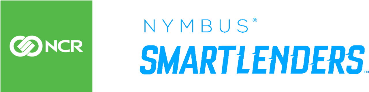 NCR and Nymbus Smartlenders logos