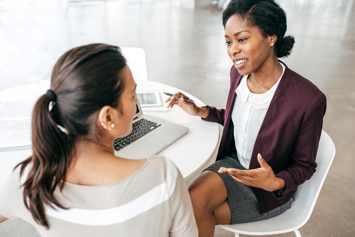 Partners discussing new plans - female women