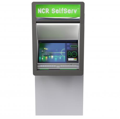 NCR SelfServ 84 Walk Up ATM with main display screen