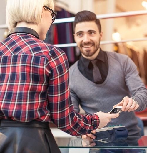 man woman customer experience digital transformation