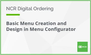 Basic Menu Creation and Desing in Menu Configurator