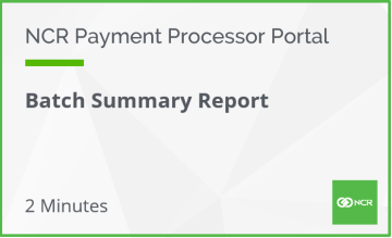 Batch Card Summary Report