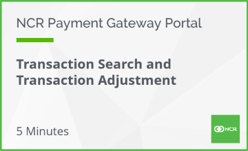Transaction Search and Adjustments