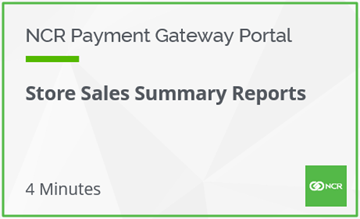 Store Sales Summary Reports