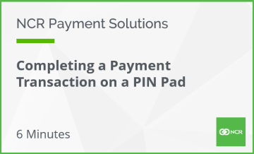 completing a payment transaction on a pin pad