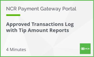 hosp transaction with tip amount report hyperlink