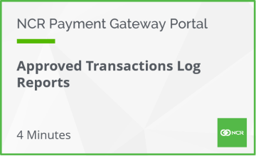 Approved Transactions Log Reports