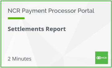 Settlements Report